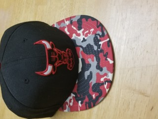 Chicago Bulls New Era Black and Red Military Basic Cap Size 7 1/4