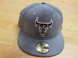 Chicago Bulls New Era Gray Basic Cap Size 7 3/8